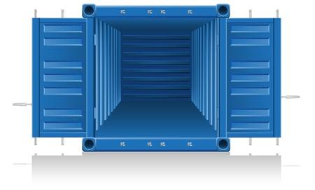 cargo container illustration isolated on white background Stock Photo