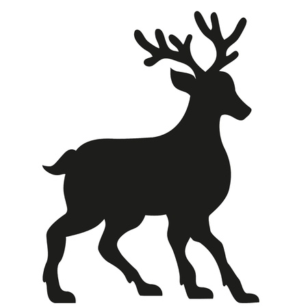 silhouette of a deer illustration isolated on white background illustration