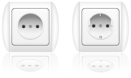 electrical socket illustration isolated on white background illustration