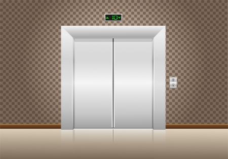 elevator doors closed illustration illustration