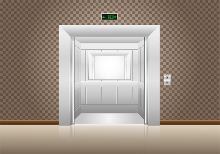 elevator doors open illustration illustration