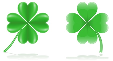 an amulet: lucky clover illustration isolated on white background Stock Photo