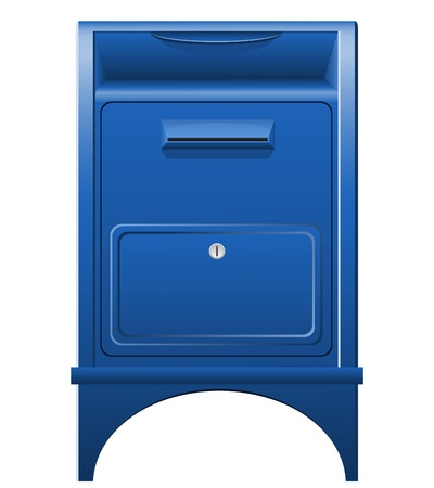 mailer: mailbox icon illustration isolated on white background