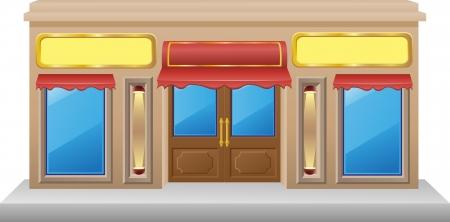 tienda de fachada con una ilustraci�n escaparate