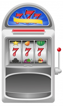 slot machine illustration isolated on white background Stock Photo