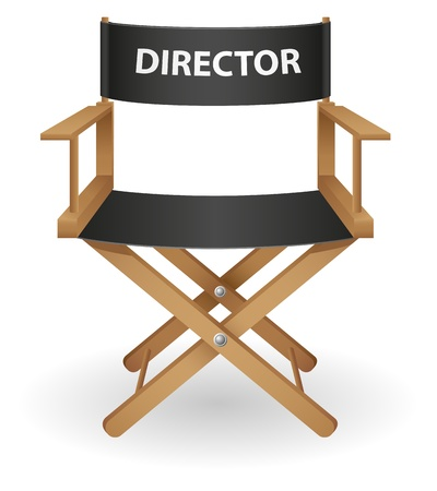 producer: director movie chair vector illustration isolated on white background