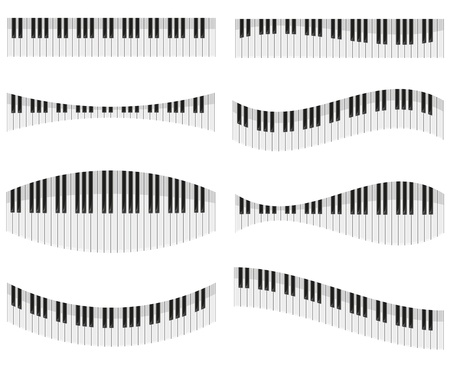 piano keys: piano keys for different forms of design vector illustration isolated on white background