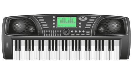 synthesizer: synthesizer vector illustration isolated on white background Stock Photo