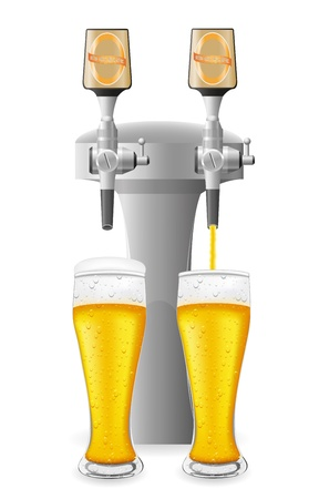 beer equipment vector illustration isolated on white background Stock Photo