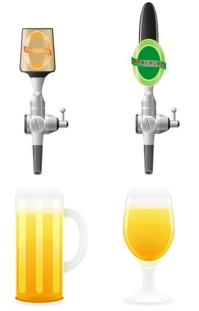 ingredients tap: beer equipment vector illustration isolated on white background Stock Photo