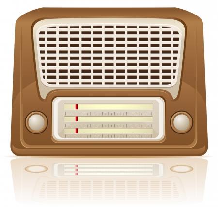 portative: radio retr� illustrazione vettoriale isolato su sfondo bianco Archivio Fotografico
