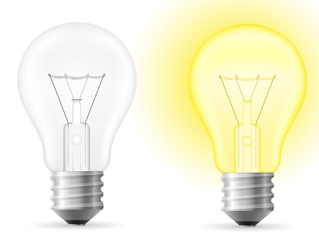 light bulb vector illustration isolated on white background Stock Illustration - 17470669