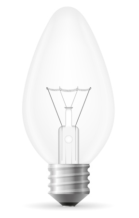 light bulb vector illustration isolated on white background Stock Illustration - 17470662