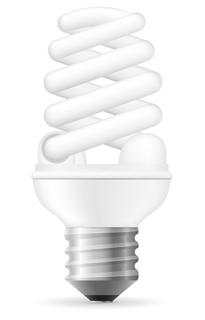energy saving light bulb vector illustration isolated on white background Stock Illustration - 17470675