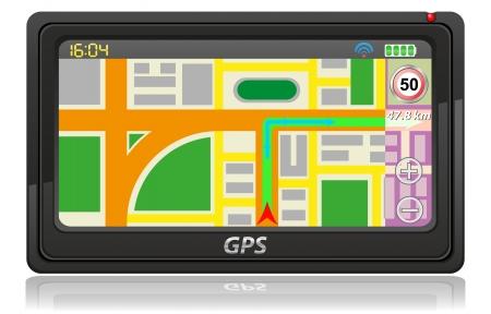 gps navigator illustration isolated on white background illustration