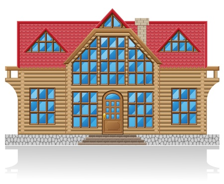 wooden house illustration isolated on white background illustration