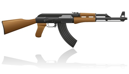 automatic machine AK-47 Kalashnikov vector illustration isolated on white background illustration
