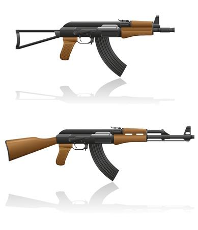 automatic machine AK-47 Kalashnikov vector illustration isolated on white background illustration