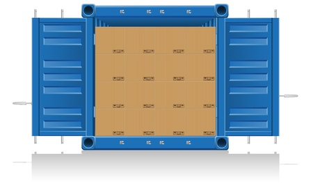 cargo container: concept cargo delivery vector illustration isolated on white background