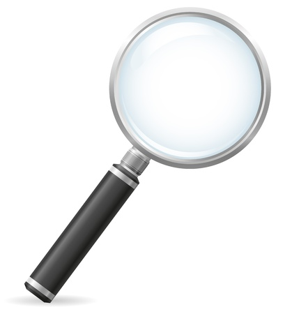 magnifier vector illustration isolated on white background illustration