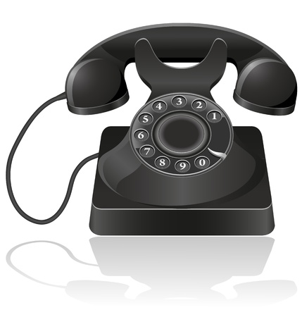 old phone vector illustration isolated on white background illustration
