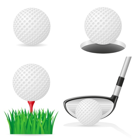 golf club: golf ball vector illustration isolated on white background