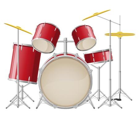 kit: drum set vector illustration isolated on white background