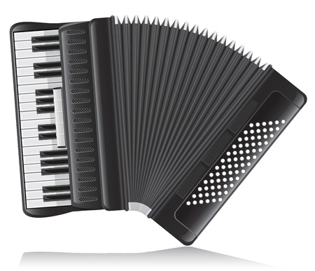 accordion vector illustration isolated on white background illustration
