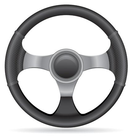 steering: car steering wheel vector illustration isolated on white background