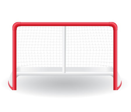 gates goalie for the game of hockey  Stock Photo