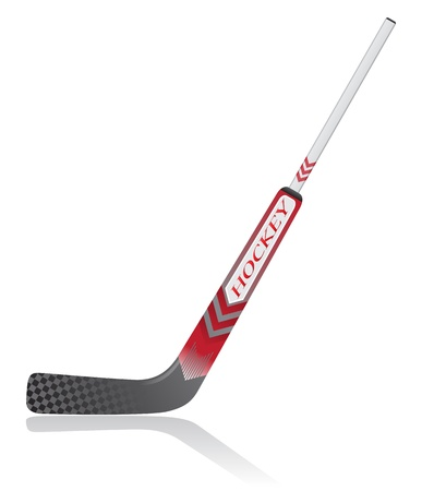 hockey goal: hockey stick for goalie