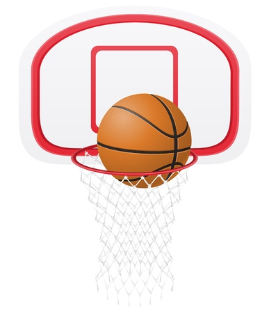 basketball basket and ball  photo