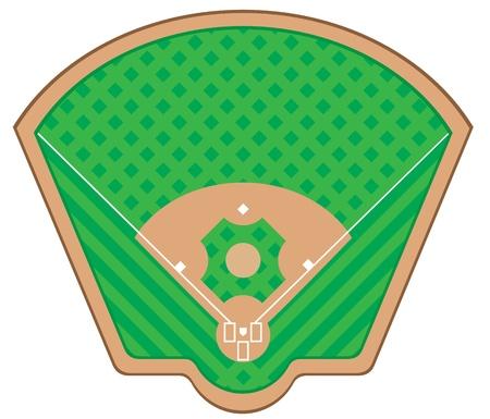 Campo de béisbol ilustración aislado sobre fondo blanco Foto de archivo - 20941315