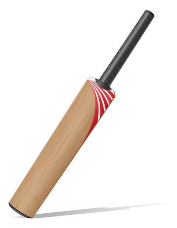 cricket bat: bat for criket cricet illustration isolated on white background