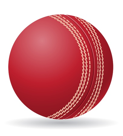 cricet ball illustration isolated on white background illustration