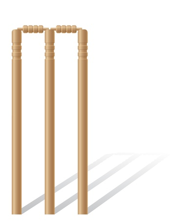 cricet wickets illustration isolated on white background illustration