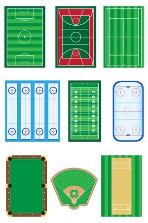 baseball stadium: fields for sports games vector illustration isolated on white background