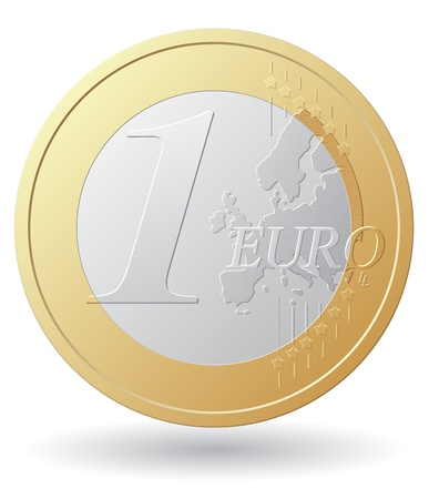 one euro coin vector illustration isolated on white background Stock Illustration - 21215621