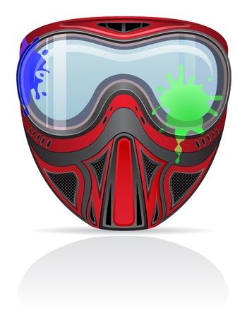 paintball: paintball mask illustration isolated on white background Stock Photo