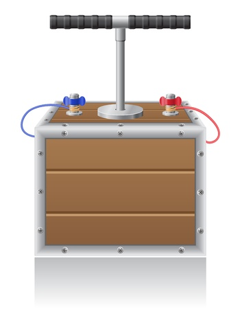 detonating: detonating fuse illustration isolated on white background
