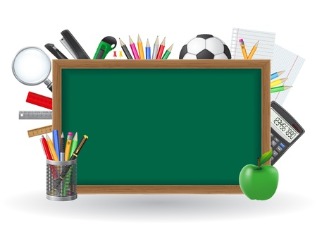 set icons school supplies illustration isolated on white background illustration