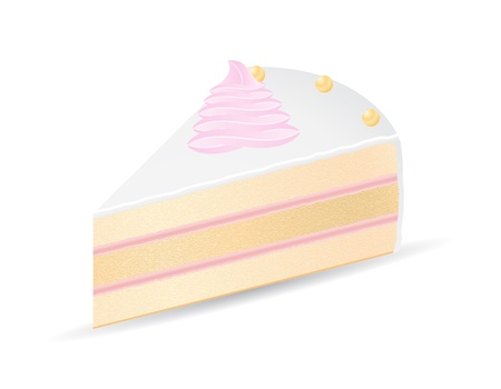 piece of cake vector illustration isolated on white background Stock Illustration - 21658863