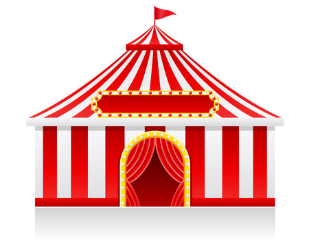 circus tent illustration isolated on background