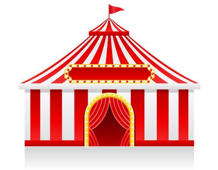 Zirkuszelt Abbildung auf Hintergrund Standard-Bild - 22828347