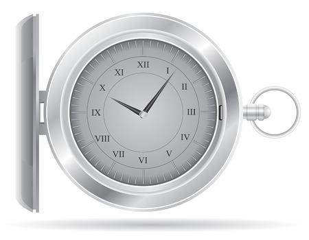 edwardian: pocket watch illustration isolated on white background Stock Photo