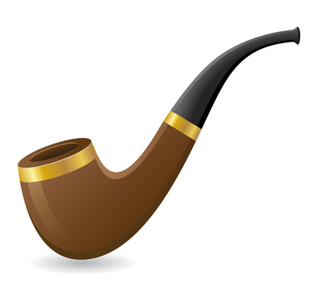 tobacco pipe illustration isolated on white background illustration