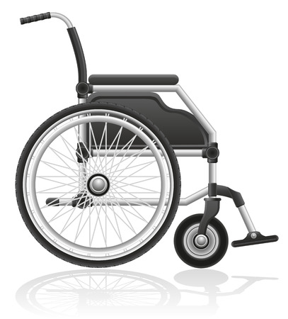 wheelchair: wheelchair vector illustration isolated on white  Stock Photo