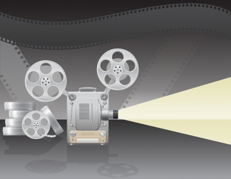 tripod projector: cinema projector vector illustration on abstract