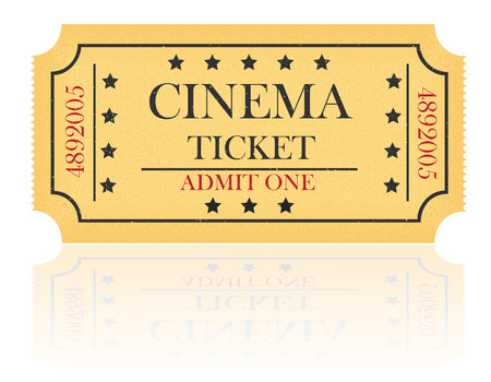 cinema ticket vector illustration isolated on white