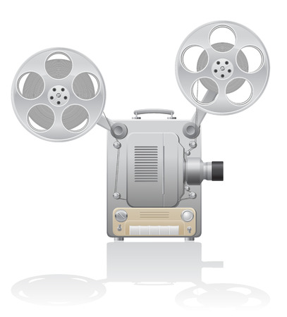 tripod projector: cinema projector vector illustration isolated on white  Stock Photo